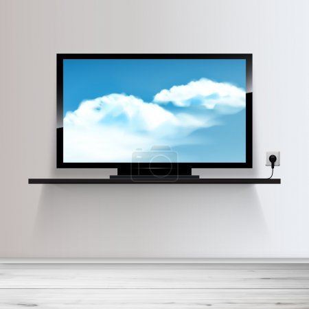 Minimal Room with Tv - Realistic