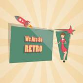 Retro Background and Space for your Text Vector
