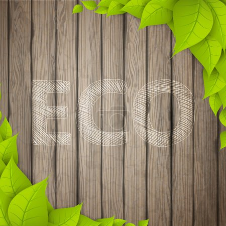 Eco Background with leaves