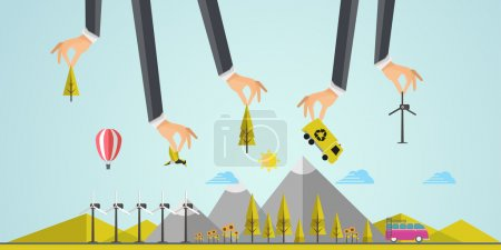 Eco Business Background