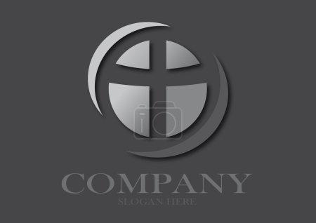 Christian cross on black background