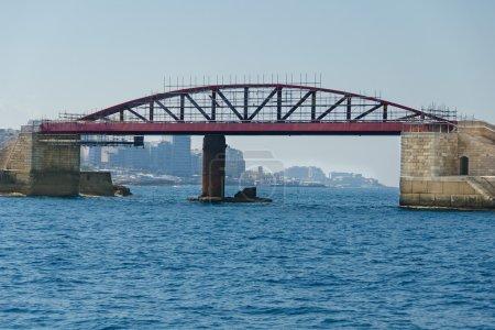 Bridge on the sea in repair