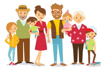 family portrait at simple style