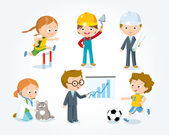 professions for kids illustration