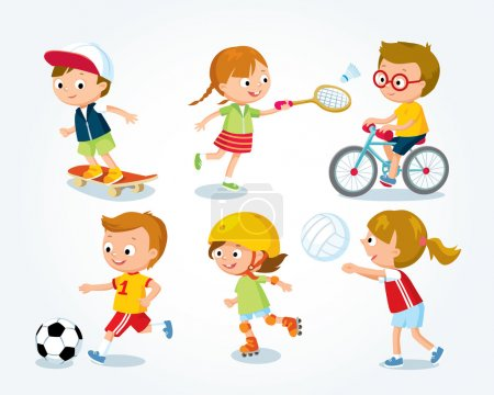 sport for kids illustration