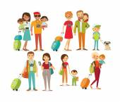 people travelling with family