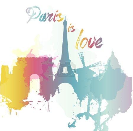 Paris. Vector illustration
