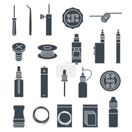 vape icons set
