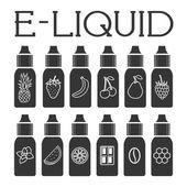Vector E-Liquid illustration of different flavor
