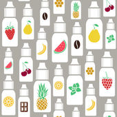 Vector  seamless pattern of different flavor