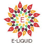 Vector E-Liquid illustration of different flavor Liquid to vape