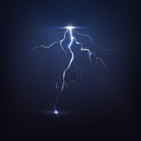 Abstract lightning on black background