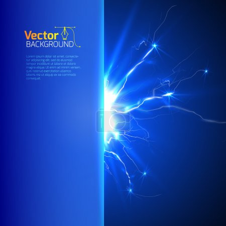 Blue background with lightnings