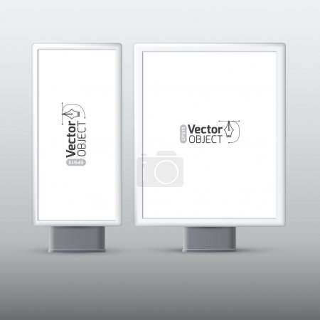 Illustration for Trade exhibition stand display on gray background - Royalty Free Image