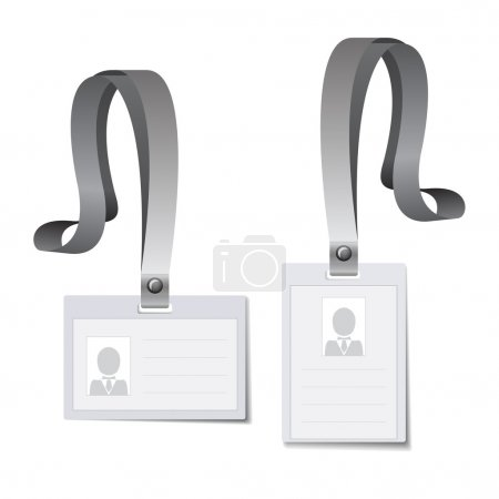Identification white blank cards