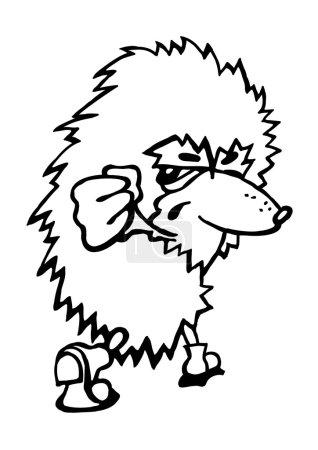 Illustration for Hedgehog, Porcupine, Cartoon, Vector, Image - Royalty Free Image