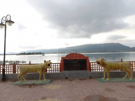 Photo for Ana sagar lake is located in Ajmer, Rajasthan, India - Royalty Free Image