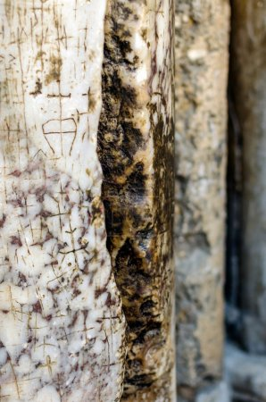 Marble column at the Church of the Holy Sepulchre, split by lightning