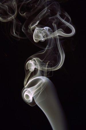 Closeup of silky smoke waves