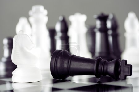 Photo for Chess king down - Game over - Royalty Free Image