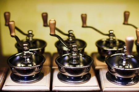 Vintage manual coffee grinders