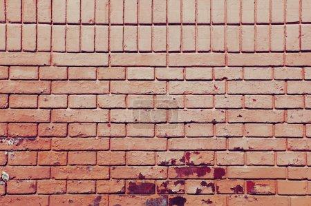 Photo pour Vieux fond de mur grunge brique rouge - image libre de droit