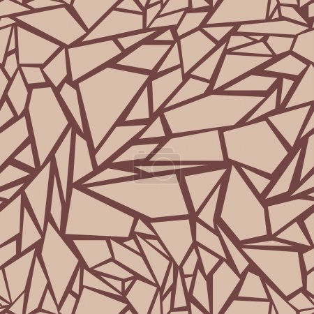 Abstract seamless pattern. The effect of broken glass