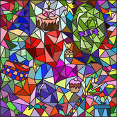Stained glass on a holiday theme