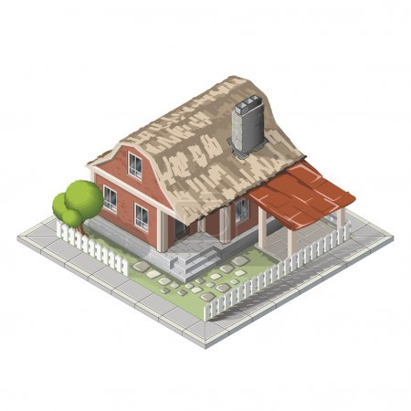 Farm set in isometric view. Attributes for agricul...