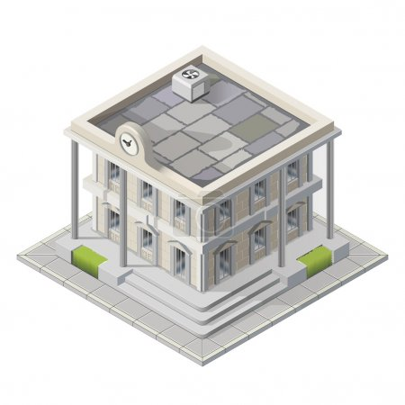 Vector mayoralty isometric building