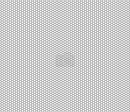 Illustration for Vector modern seamless geometry pattern hexagon, black and white abstract geometric background, trendy print, monochrome retro texture, hipster fashion design - Royalty Free Image