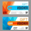 Voucher, Gift certificate, Coupon template. Floral...
