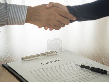 Documents contracting with partners are handshake ...