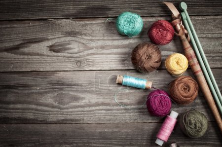 Accessories for knitting background