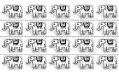 Ethnic  tribal Seamless Pattern with elephants
