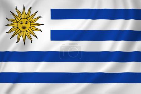 Photo pour Uruguay drapeau national texture de fond . - image libre de droit
