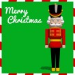 Nutcracker soldier toy Christmas greeting card in ...