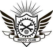 moto club Motorcycle label badge