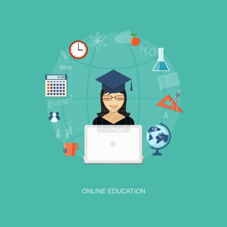 flat  elements of education with girl
