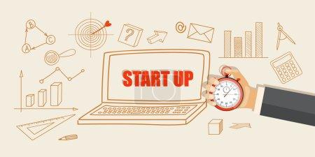 Illustration pour Concept d'affaires design plat modern vector illustration - eps10 - image libre de droit