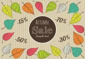 Hand-drawn Autumn Sale Background