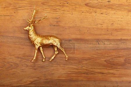 Deer figure on wood