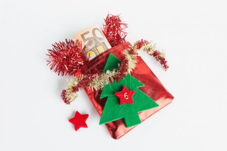 Santa  sack with Euro notes