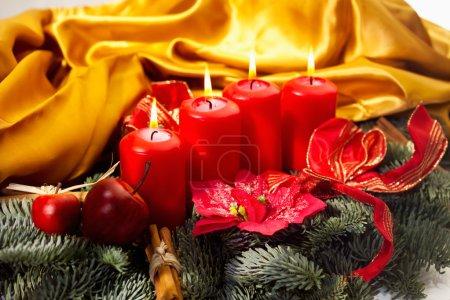 Photo pour Décoration de Noël colorée, beau fond de vacances - image libre de droit