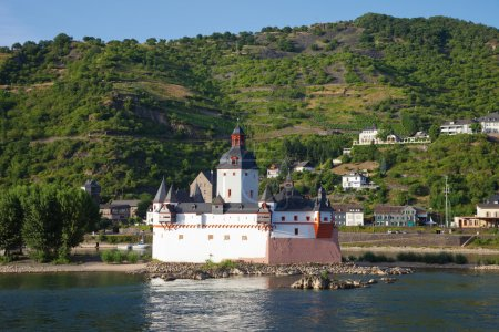 Germany,Rhineland-Palatinate,View of pfalzgrafenstein castle nea