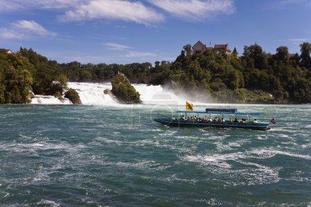 Switzerland,Neuhausen,View of rhine waterfall with...