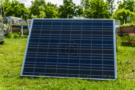 Germany, solar cell in garden