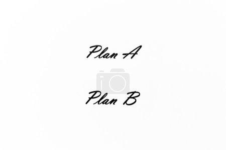 Plan A, Plan B, white paper