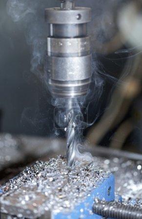 Smoky metal drill