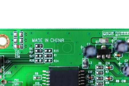 Photo pour Composant électronique, fabriqué en Chine - image libre de droit